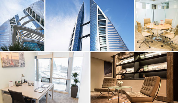 Office space in Manama and 4 other cities in Bahrain