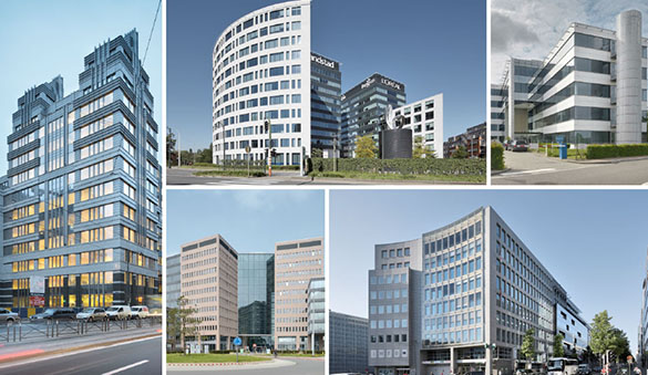 Office space in Auderghem and 46 other cities in Belgium