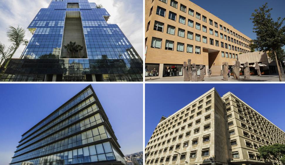 Kontorlokaler i Beirut og 4 andre byer i Libanon