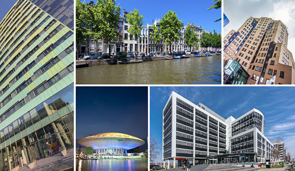 Office space in Amsterdam and 120 other cities in Netherlands