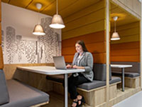 Unreserved co-working (hot-desking)
