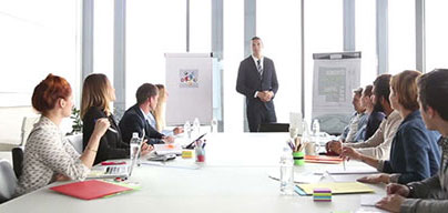 Meeting facilities including flipcharts, whiteboards, AV-screens and projects if needed