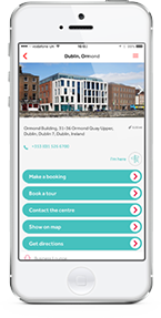 Manage your office space via the Regus App