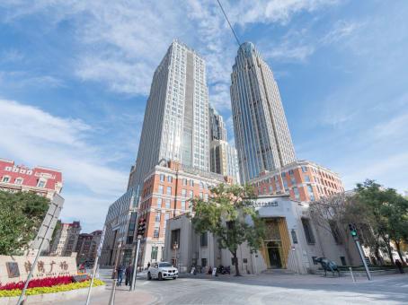 建筑位于天津市解放北路与哈尔滨道交口东北侧, 金之谷大厦一号楼11楼, 和平区 1