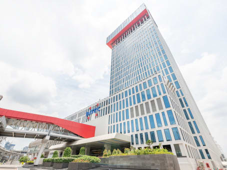 建筑位于BangkokRegus Bhiraj Tower at BITEC, 23rd Floor, Bhiraj Tower at BITEC 4345 Sukhumvit Road, Bangna Sub-District, Bangna Distrcit 1